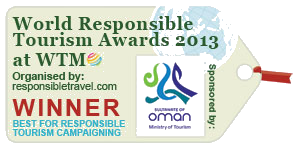 Winner World Responsible Tourism Awards 2013
